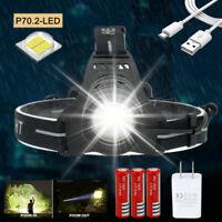 Zoom XHP70.2 LED 90000LM Stirnlampe Taschenlampe Kopflamp Stirnleucht  3*18650 N
