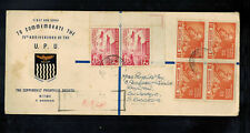1949 Northern Rhodesia First Day cover to Bulawayo Southern Rhodesia UPU # 56 58