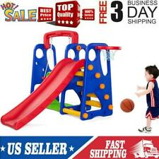 Toddler Climber Play Slide Set Kids Indoor Outdoor Playground Child Play Set Toy