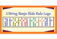 5 STRING BANJO 5 POSITION LOGO REFRIGERATOR MAGNET