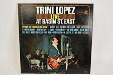 Trini Lopez Live At Basin St. East Vinyl 33 Music Album Produced By Dan Costa