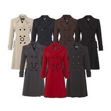 De La Crème - Womens Spring/Summer Jacket Ladies Double Breasted Trench Mac Coat