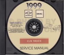 1999 Silverado Sierra Shop Manual on CD GMC Chevy CK Pickup Truck Service Repair