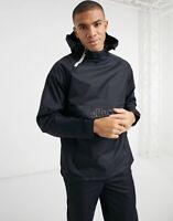 Ellesse Mens Jacket Lightweight Overhead Black Medium Logo Hooded Ragusan