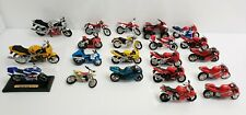 Maisto Honda Motorcycle Lot Of 21 Red Blue Yellow Silver