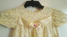 Girl Flower Floral Yellow Summer Dress Okie Dokie Satin Beads Lace Sz 6X USA