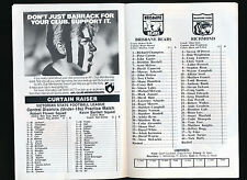 1992 Fosters Cup Brisbane Bears v Richmond Football Record Tigers won the game