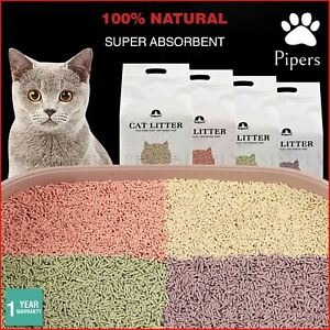 Pipers Tofu Cat Litter Crystals Lavender Clumping Bulk Edible Plant For Kitty