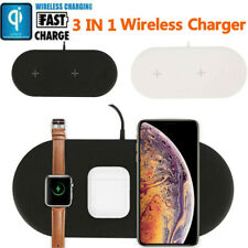 3in1 Qi Wireless Charger Fast Charging Pad For Apple Watch iWatch iPhone 12/11/X