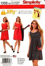 Simplicity Sewing Pattern 1356 Jiffy Misses' Reversible Wrap Dress 14-22 NEW