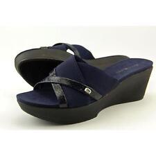 Bandolino Donovan Women US 10 Blue Wedge Sandal Blemish  17560