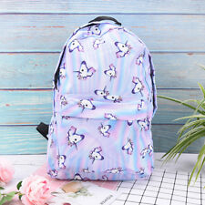 3D-Unicorn Printing Multi Color Rainbow Girl Backpack School Bag Travel-Rucksack