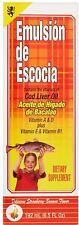 Emulsion De Escocia Cod Liver Oil, Strawberry Banana Flavored 6.50 oz