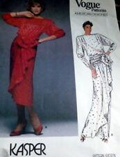 LOVELY VTG 1980s EVENING DRESS VOGUE DESIGNER KASPER Sewing Pattern 14/36