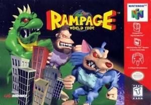 Rampage World Tour - Nintendo N64 Game