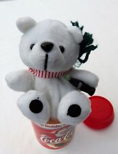 Coca-Cola Promotional Christmas Polar Bear Soft Toy in Lidded Can