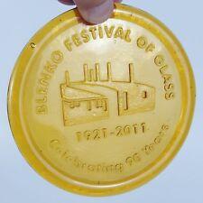 Blenko Annual Festival of Glass Medallion Jonquil 1921 2011 90 Anniversary