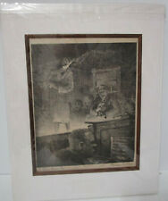 Original Etching Frances T Kane Go Down Moses 5/20 Well Listed Artist Signed