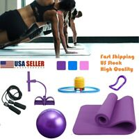 Yoga Mat Set Pedal Tension Rope Pilate Ball Exercise Fitness Gym Workout