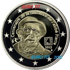 FRANCE     1  x  PIECE   COMMEMORATIVE  NEUVE   ABBE PIERRE   2012