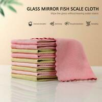 5pcs Special Fish Scale Wipe Rag For Glass Housework Cleaning Cloth Random Color