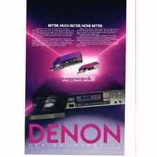 1986 Denon DCD-1800 CD Compact Disc Player Stereo Hi-Fi Vtg Print Ad