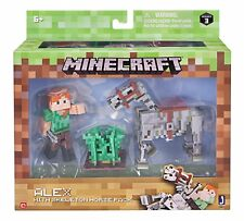 Minecraft Alex And Skeleton Pack Video Game 3 Inch Scale Horse Figure Carrot Toy