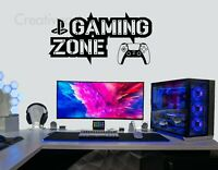 Gaming Zone Wall Stickers PlayStation 5 Controller Game Zone Vinyl Decals PS5