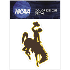 Wyoming Logo NCAA Die Cut Vinyl Car Sticker Bumper Window