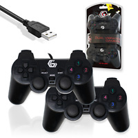Gembird JPD-UDV2-01-DUAL Wired Vibration Gaming Controller 2 Gamepads on 1 USB