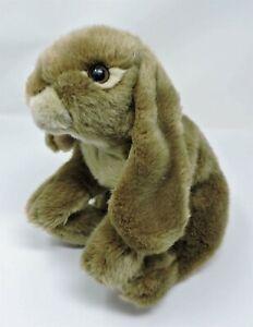 "Animal Alley Bunny Rabbit Plush Brown Beige 12"" Stuffed Toy Realistic Floppy"