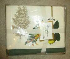 "New NIP 2012 WILLIAMS SONOMA TWELVE DAYS OF CHRISTMAS TABLECLOTH 70 x 126"""