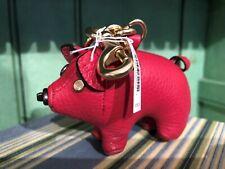 Coach Lunar New Year Plush Leather PIG Bag Charm Key Ring Chain ~ F66907 🐷