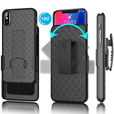 For iphone Xs Max Xr XS X Holster Shockproof Case with Kickstand Belt Clip Cover