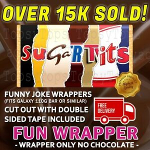 Rude Chocolate Bar Wrapper Novelty Joke Funny Gift Birthday Present Fathers Day