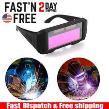Solar Powered Auto Darkening Welding Goggle Protective Helmet Eyes Glasses Usa