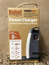 New Bushnell AA Battery Charger Outdoor Powersync Portable Power on Demand Box