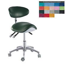 PU Leather Medical Dental Dentist Saddle Chair Adjustable Mobile Doctors'Stool