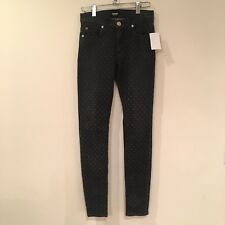 NWT Hudson Nico Midrise Super Skinny Dotted Jeans Sz. 24 $245