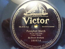 VICTOR 78 RECORD 18097/six brown brothers/BULL FROG BLUES/PUSSYFOOT MARCH/VG+