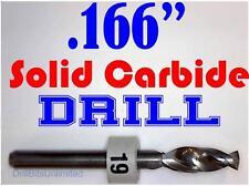 ".166"" 4.20mm  -Solid Carbide Drill Bit - 1/8"" Shank -Sharp! CNC Hobby Model -lu"