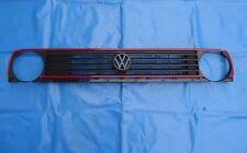 Frontgrill Kühlergrill GTI rote Leisten VW Golf 2 II Jetta 2 Grill mit Emblem sw