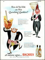1946 Bacardi Rum quenching thirst vote Egyptian Scots vintage art print ad adL23