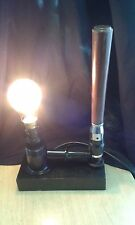BEER PULL RECYCLED DESIGNER TABLE LAMP  BAR STEAMPUNK PUB  DEN HOTEL