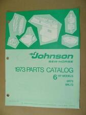 1973 JOHNSON 6 HP MODELS 6R73 & 6RL73 OUTBOARD MOTOR ENGINE PARTS CATALOG 386131