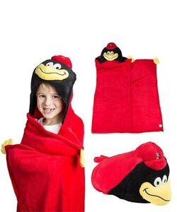 St. Louis Cardinals Baby Child Hooded Blanket PLUSH RED BIRD Mascot Wear NEW