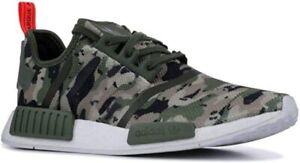 adidas Men's  Originals NMD_R1 Shoe Casual, Camouflage & Solar Red, 12 (G27914)