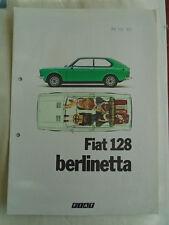 FIAT 128 BERLINETTA BROCHURE LUG 1976 TESTO TEDESCO