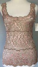 $190**S*M* NATORI stretch lace silky cami dress blouse jacket tank tunic top tee