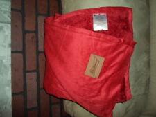 Budweiser Fleece Throw blanket Nip Bud Red w/ Leather Patch Label